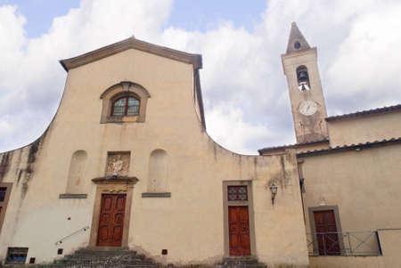 Church in Settignano in Tuscany Italy