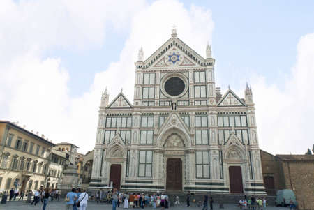 Santa Croce Church in Florence Tuscany Italy Editorial