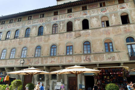 Decorated Building in Florence Italy