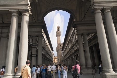 The Uffizi Gallery in Florence Tuscany Italy Editorial