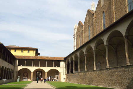 Cloisters of the Church of Santa Croce in Florence Italy Stock Photo - 12606588