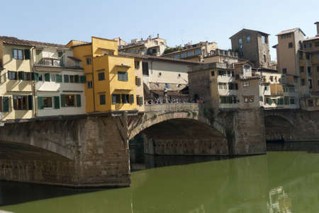river arno: The Ponte Vecchio over the River Arno In Florence Tuscany Italy