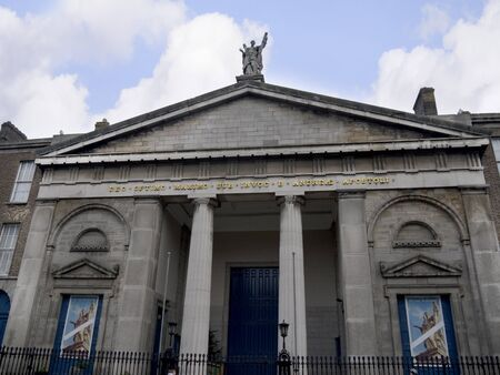 Facade of St Andrews Church in Dublin Ireland photo