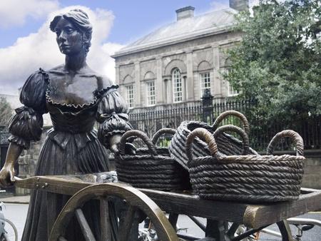 Bronze Statue of Molly Malone in Dublin City Ireland