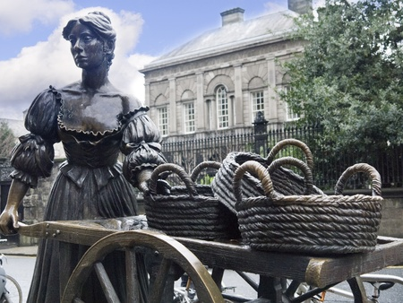 Bronzen standbeeld van Molly Malone in Dublin, Ierland