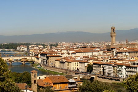 view over the city of Florence from Fort Belvedere Italy