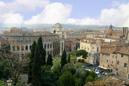 the Rooftops of the Eternal City of Rome Italy photo