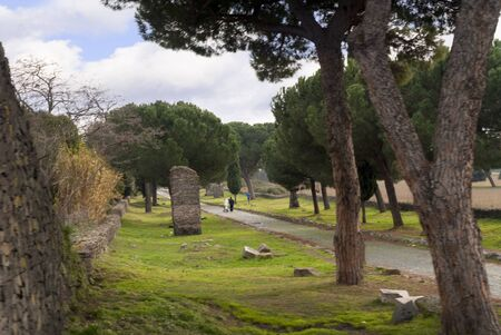 The Appian Way , the road to the south of Italy in Rome Italy photo