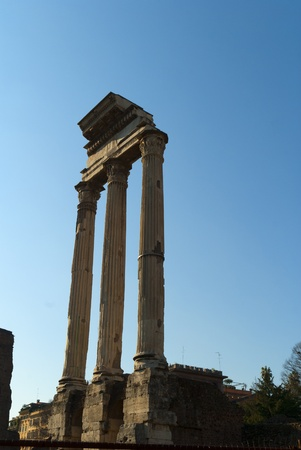 Temple of Castor and Pollux  in the ancient Roman Forum Rome Italy Stock Photo - 12961275