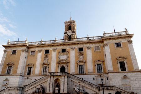 Senate Building on Capitoline Hill Rome Italy Stock Photo - 12972271