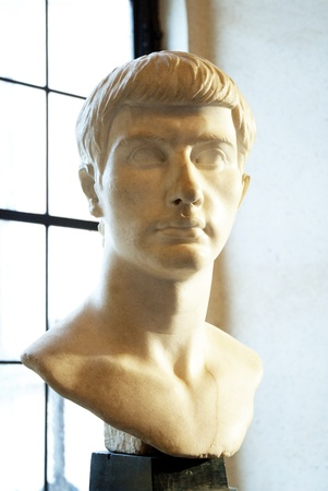 Roman Marble Head in Rome Italy Stock Photo - 12961323