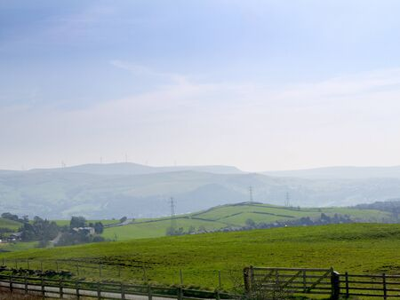 moors: Lancashire Moors looking down on Mill Towns England