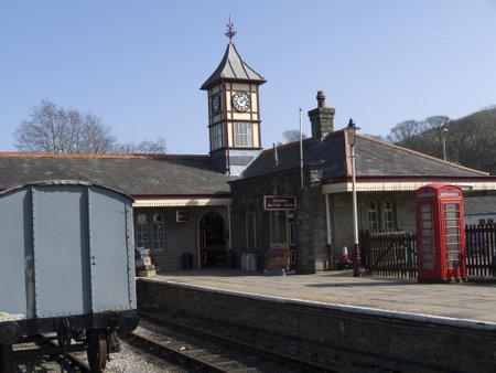 terminus: Este vapor Lancashire Estaci�n Terminus en Rawtenstall Inglaterra Editorial
