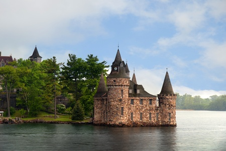 seaway: Boldt Castle one of the 1000 islands in the St Lawrence Seaway in Canada