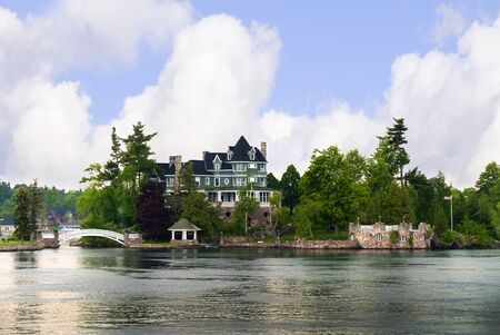 seaway: House on the 1000 islands of the St Lawrence Seaway Ontario Canada