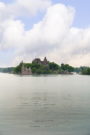 seaway: Boldt Castle on Heart island in the 1000 island of the St Lawrence Seaway Ontario Canada