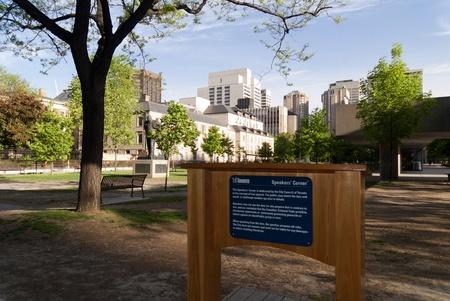 Speakers Corner in Toronto City Centre Ontario Canada photo