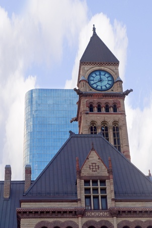 seaway: City Hall Clocktower in Toronto Ontario Canada