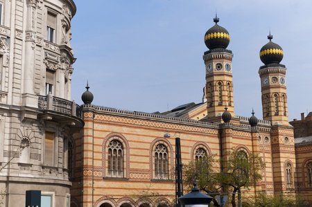 jewish houses: Zsinagoga the largest Synagogue in Budapest  Stock Photo