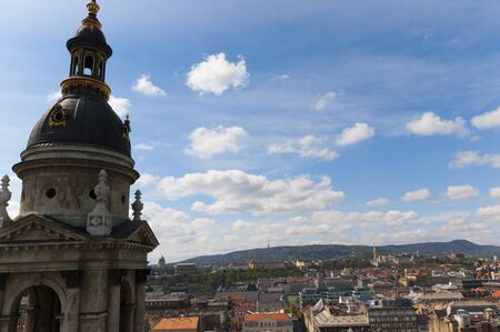 View from the Dome of St Stephans Cathedral in Budapest Hungary Stock Photo - 13489909