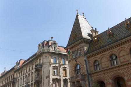 main market: Mercato coperto principale di Budapest Ungheria