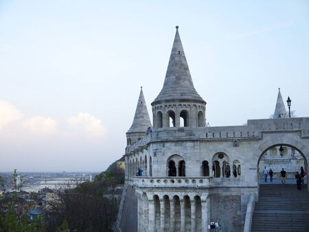 fishermens: Fishermens Bastion Above Budapest Hungary