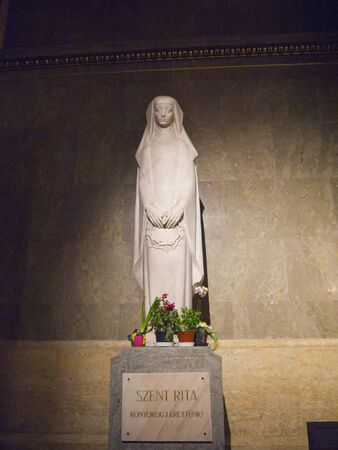Statue of St Rita in St Stephans Cathedral in Budapest Hungary Stock Photo - 13669020