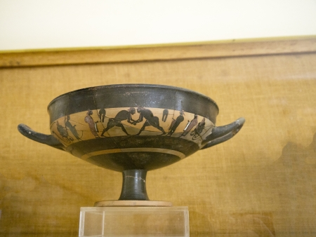 minoan: 4000 years old Minoan pottery fragment Editorial