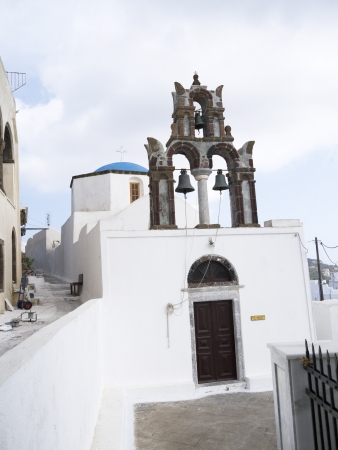 Village of Pyrgos on the island of Santorini Greece photo