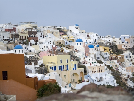 ancient buildings: The Town of Oia on the Island of Santorini Greece