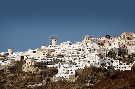The Town of Oia on the Island of Santorini Greece