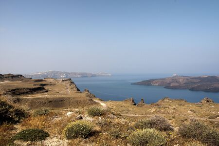 eacute: Undeveloped area of the island of Santorini Greece