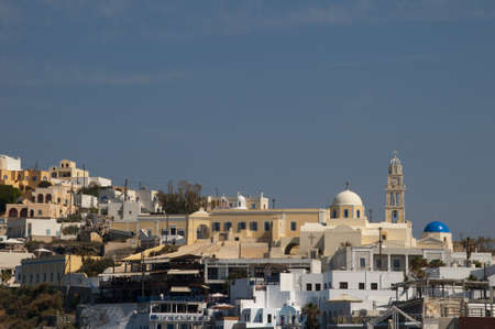 Fira Capital Town of the Island of Santorini Greece photo