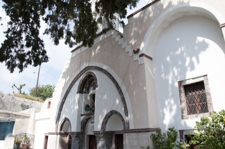 messa: church in the ghost village of Messa Gonia devastated by an earthquake 50 years ago and still not rebuilt
