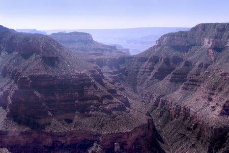 mesas: Looking down on the Grand Canyon Arizona