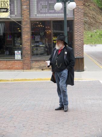 reenactor: re-enactor Deadwood Dakota del Sur EE.UU.