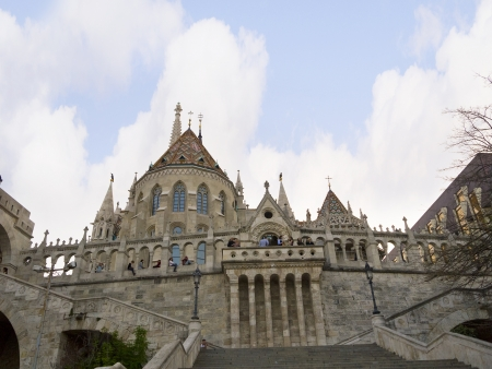 bastion: Fishermens Bastion Above Budapest Hungary