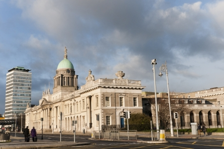 The Customs House in Dublin City Ireland