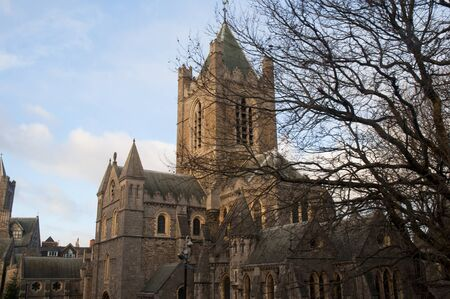 liffey: Christ Church Anglican Cathedral in Dublin City Ireland