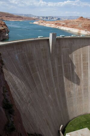 Lake Powell was created by the flooding of Glen Canyon Stock Photo - 14334120