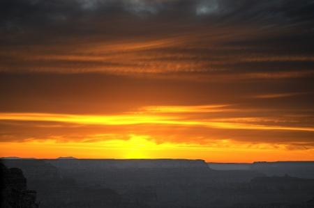 Sunset over Grand Canyon Arizona USA photo