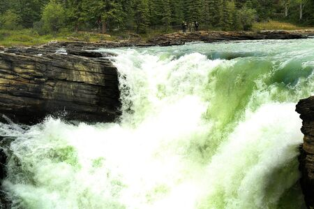 Athabasca Falls on the Althabascar River in Western Canada photo