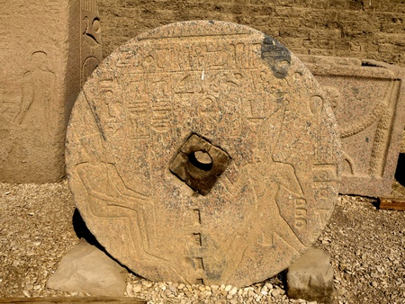 holies: The Temple at Denderah near Luxor dedicated to Hathor which was a graeco-roman site used by Queen Cleopatra, famous for its zodiac