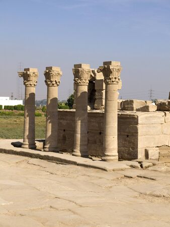 The Temple at Denderah near Luxor dedicated to Hathor which was a graeco-roman site used by Queen Cleopatra, famous for its zodiac Stock Photo - 14338778