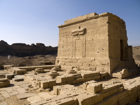 pharoah: The Temple at Denderah near Luxor dedicated to Hathor which was a graeco-roman site used by Queen Cleopatra, famous for its zodiac