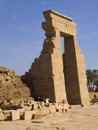 The Temple at Denderah near Luxor dedicated to Hathor which was a graeco-roman site used by Queen Cleopatra, famous for its zodiac
