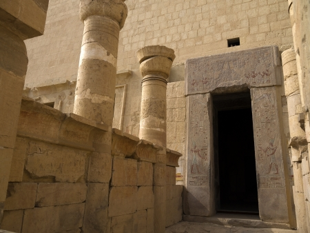 holies: The Mortuary Temple of the female Pharaoh Hatshepsut in the Valley of the Nobles at Luxor in Egypt Editorial