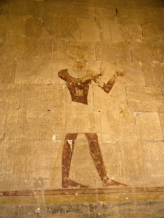 The Mortuary Temple of the female Pharaoh Hatshepsut in the Valley of the Nobles at Luxor in Egypt