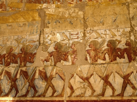The Mortuary Temple of the female Pharaoh Hatshepsut in the Valley of the Nobles at Luxor in Egypt Editorial