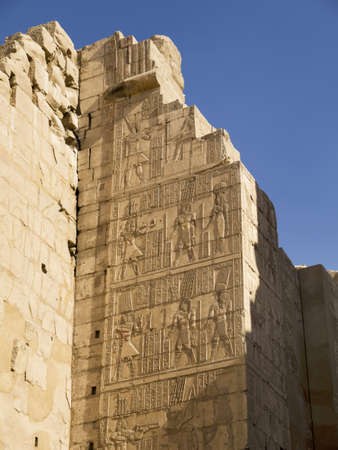 holies: Ancient Temple Complex of Karnak near Luxor in the Nile Valley in Egypt Editorial